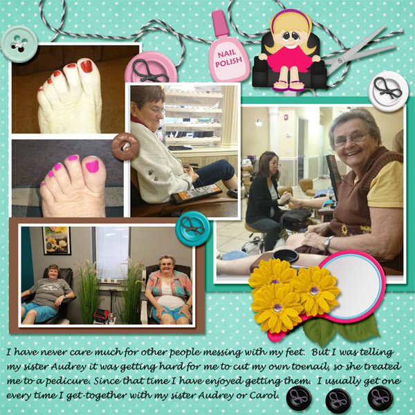 Pedi with sisters 2018