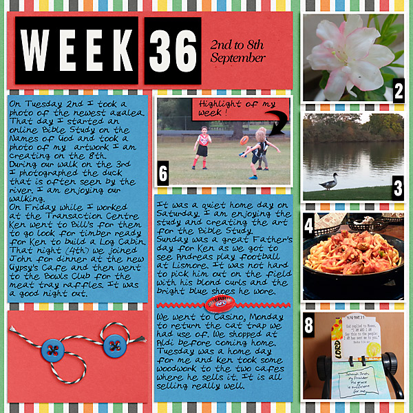 Project Life 2020 - Week 36