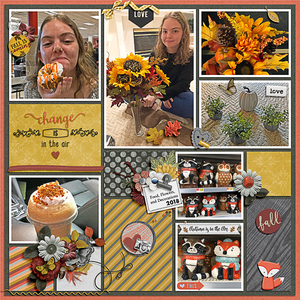 Food, Flowers and Decorations of Fall