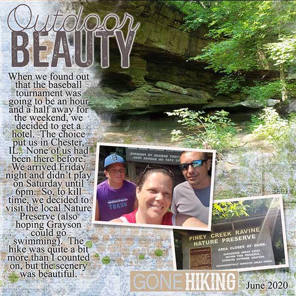 Outdoor Beauty - Template #1 Challenge June 2020
