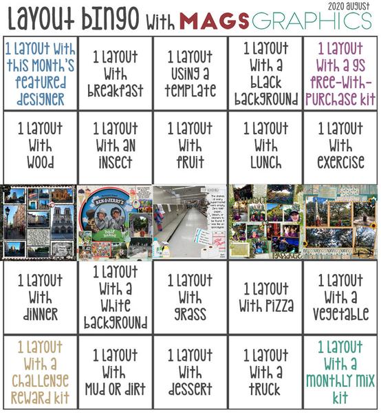 Aug 2020 Layout Bingo