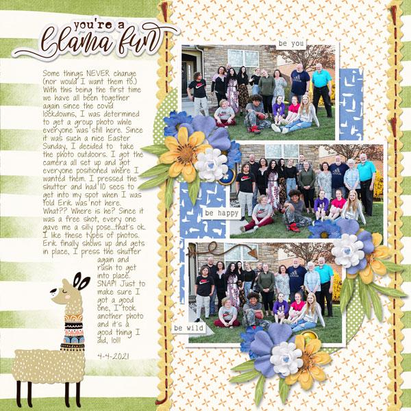 Llama Fun April 2021 template 1