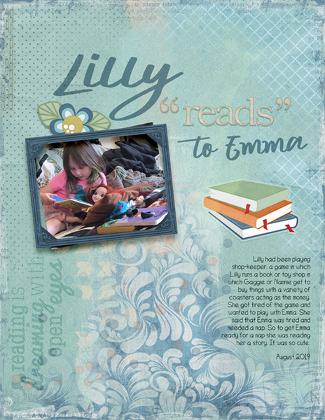 2021-02 Daily Download Challenge - Lilly reads to Emma