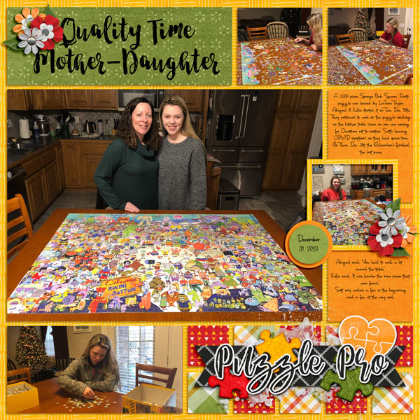3000 Piece Puzzle Over Christmas 12.31.20