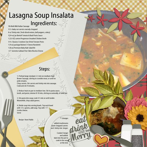 Lasagna Soup Insalata