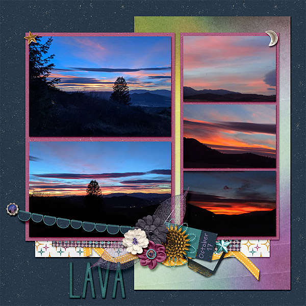Sunset in Lava