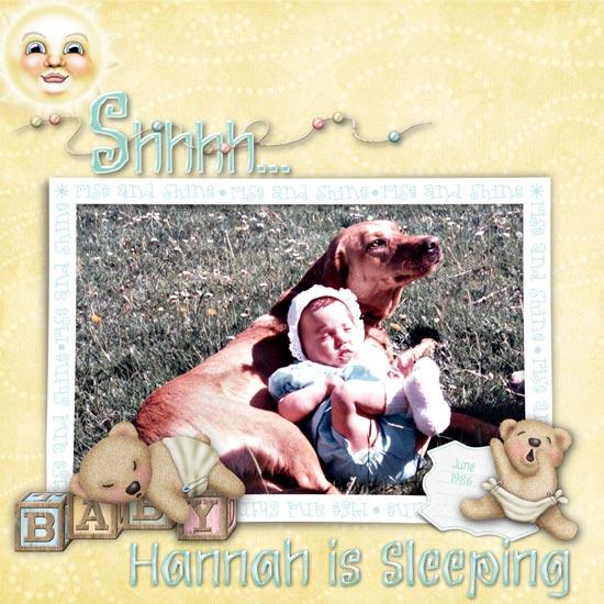 Shhhh - Hannah's Sleeping