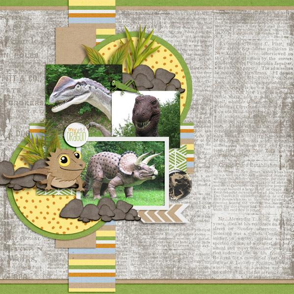 Pretty in Green - Pet Dragon / Aprilisa Designs - Picture Perfect 42 TP4