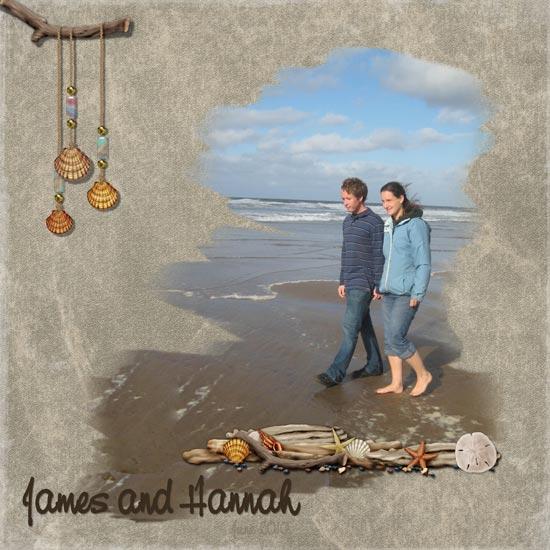 James and Hannah on the Beach