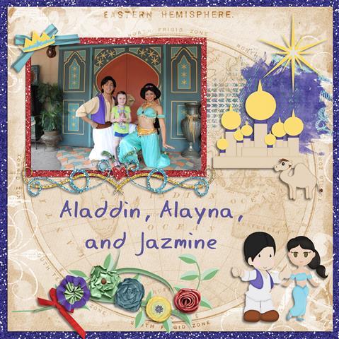 Aladdin, Alayna and Jazmine