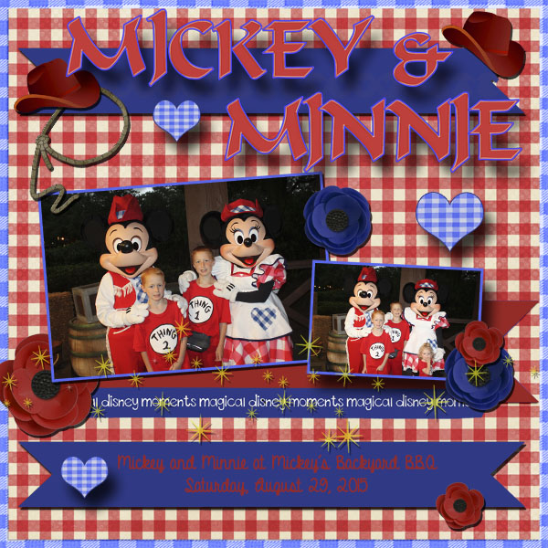 2015 Backyard BBQ, Mickey and Minnie