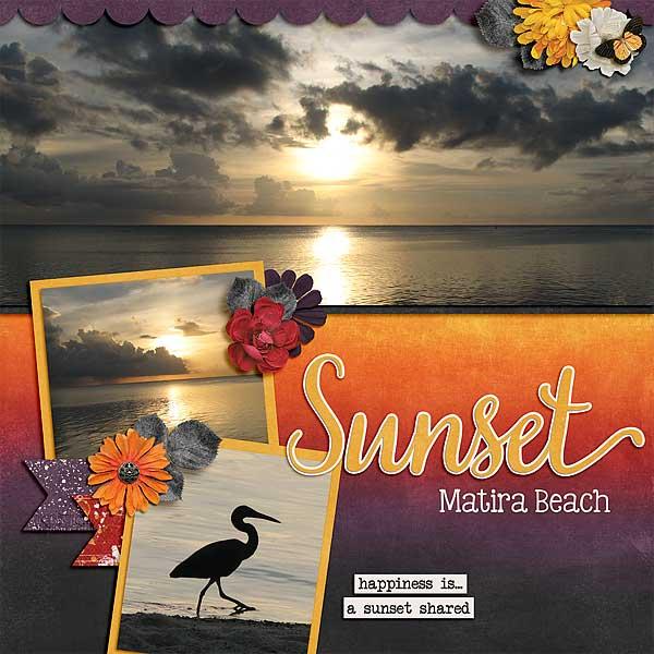 Sunset Matira Beach