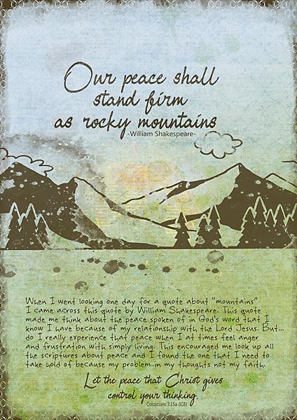 Art Journaling - October 2020 - Mountains