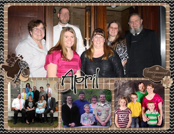 April Calendar 2014
