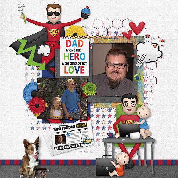 Super Dad by Boomersgirl Designs