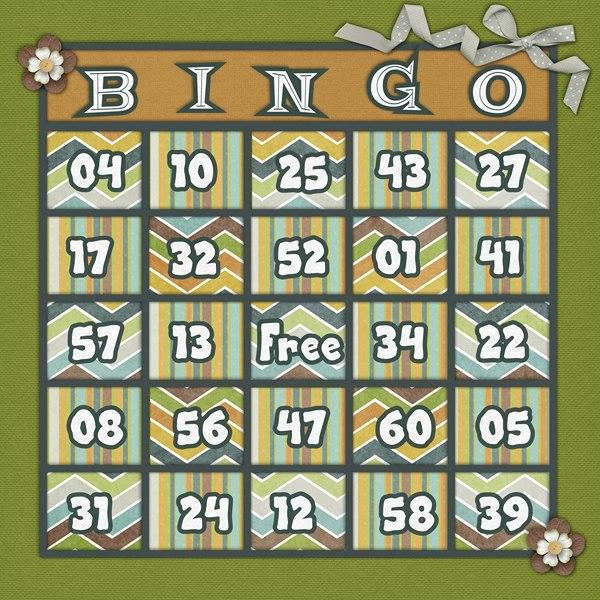 Bingo Card: 5-4-13