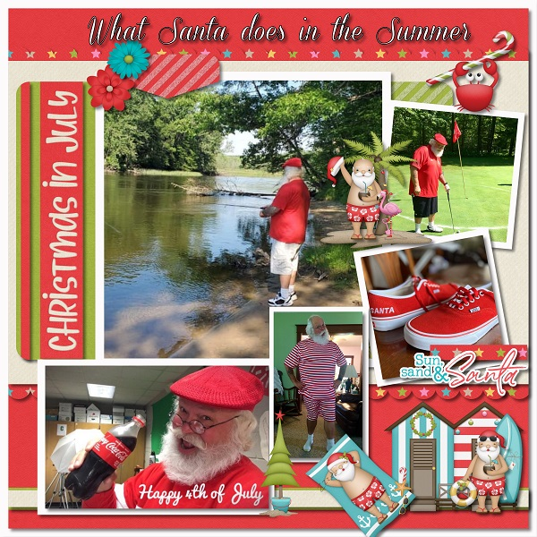 What Santa does in the Summer