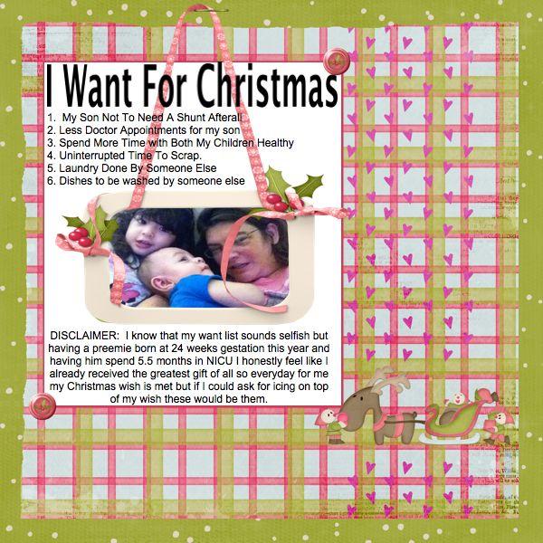 My 2012 Christmas Wish