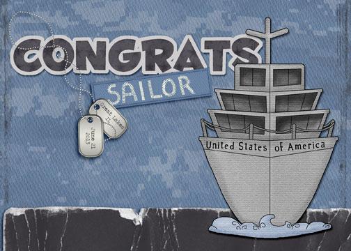 Navy Graduation Card
