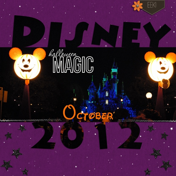 Disney Halloween Cover Page