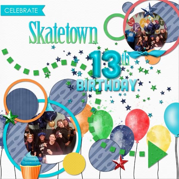 Skatetown Birthday