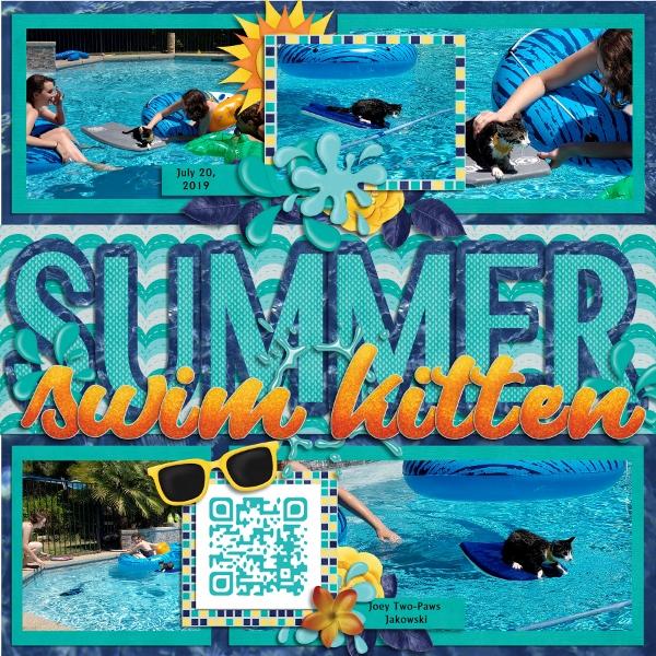 Summer Swim Kitten