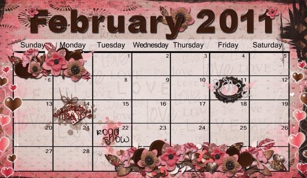 Feb. '11 calendar