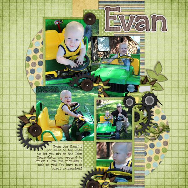 Evan - John Deere Gator - 9 months