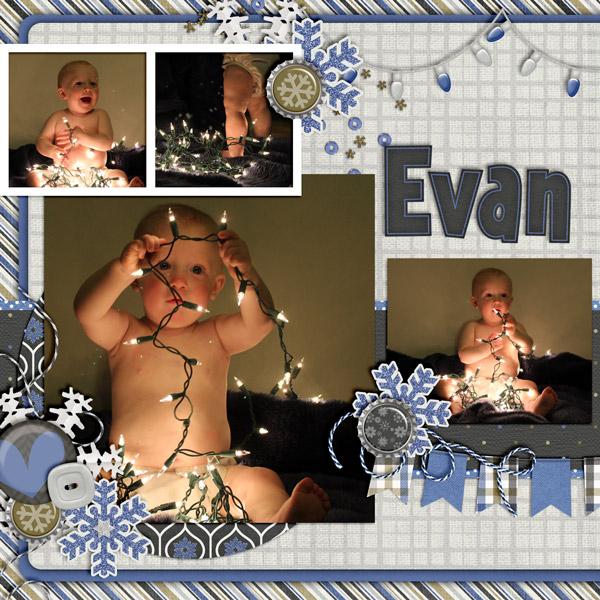 Evan Christmas Lights 1