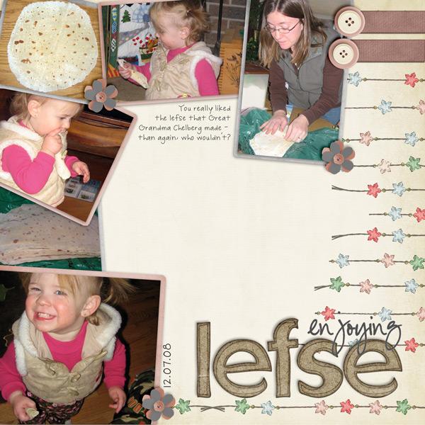 enjoying Lefse