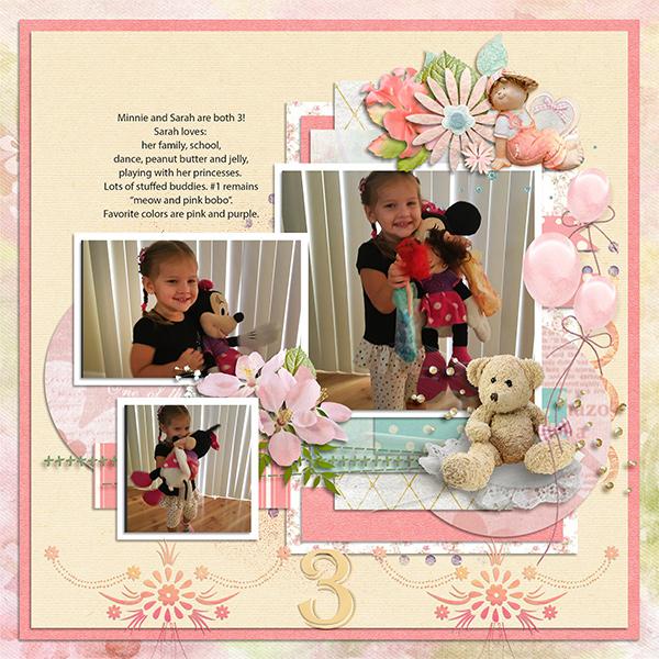 Sarah and Minnie age 3