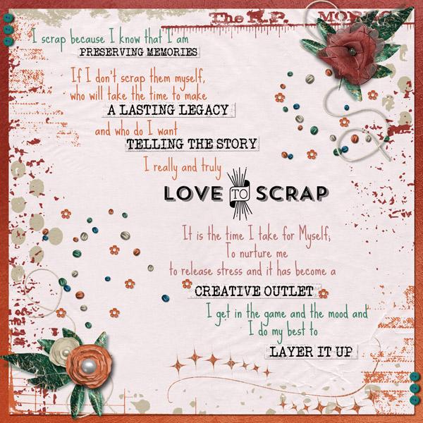 I Love To Scrap!