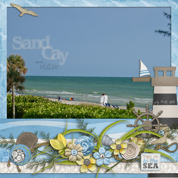 Sand Cay-the view