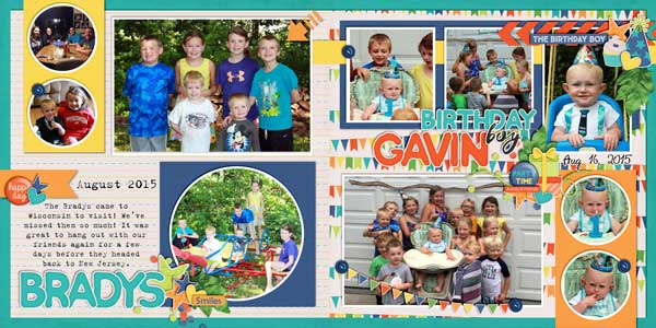 Bradys Visit & Gavin Birthday