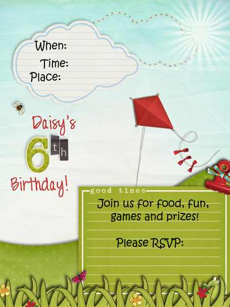 back of daisys invite