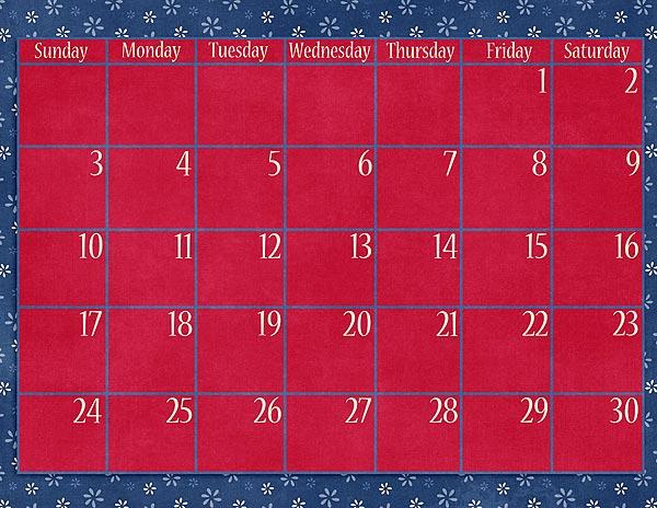 Calendar Grid - November