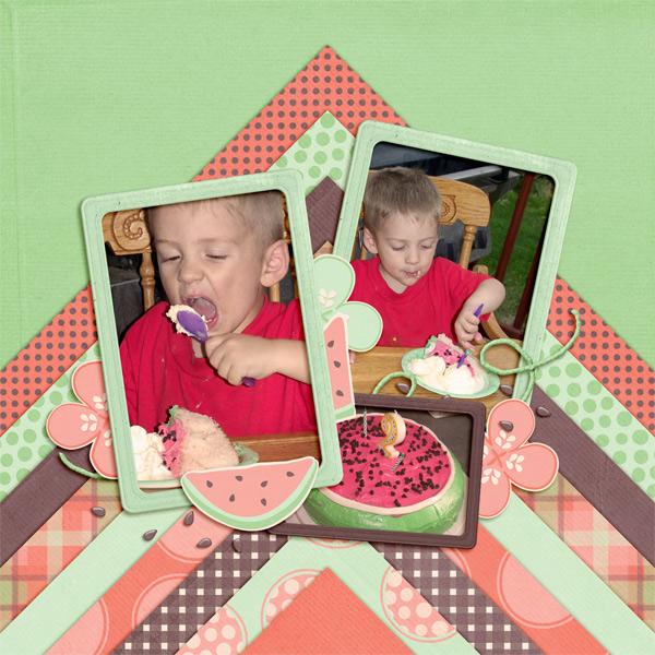 Cody's watermelon flavored cake