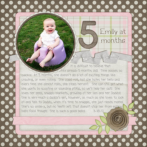 Emily at 5 months