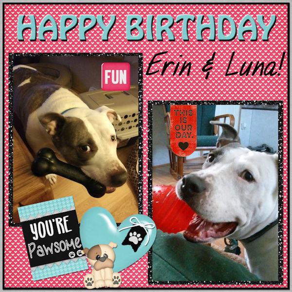Happy Birthday Erin and Luna