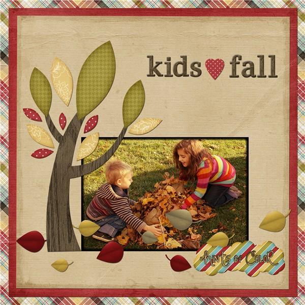 Kids love fall!