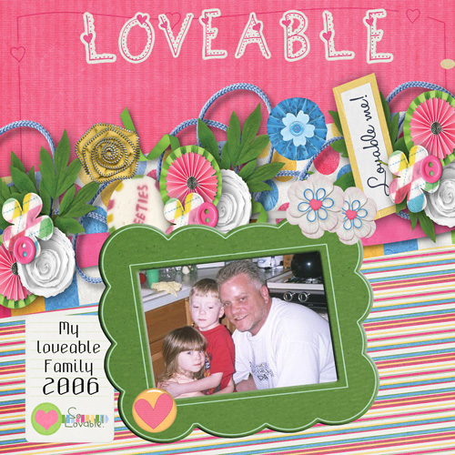 My digiscrapping layouts for August 2013