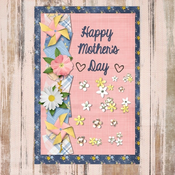 April Font chall/mothers card