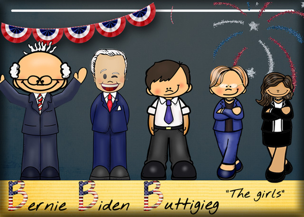 Bernie, Biden, Buttigieg and the Girls