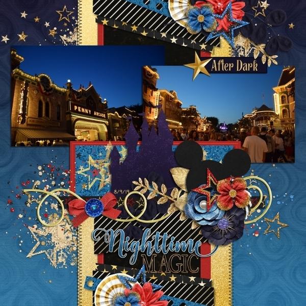 Disney Nighttime Magic Mainstreet