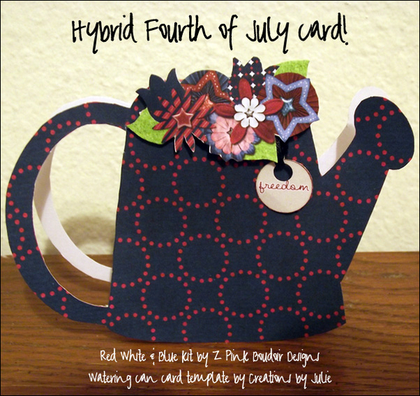 Hybrid Fourth of July card