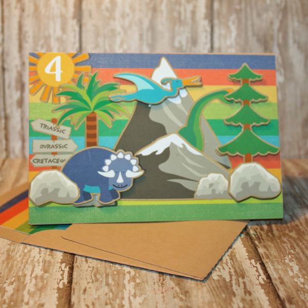 Walking With Dinosaurs Birthday Card