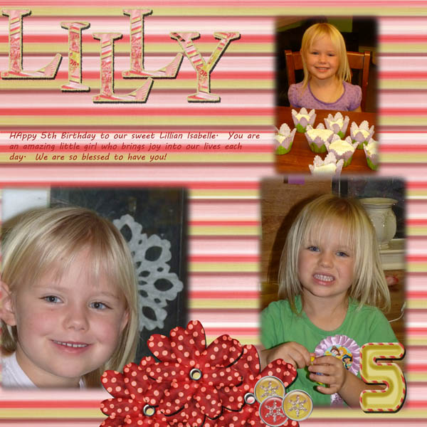 Lilly is 5!
