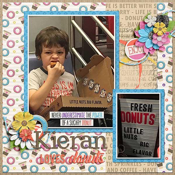 Kieran loves donuts