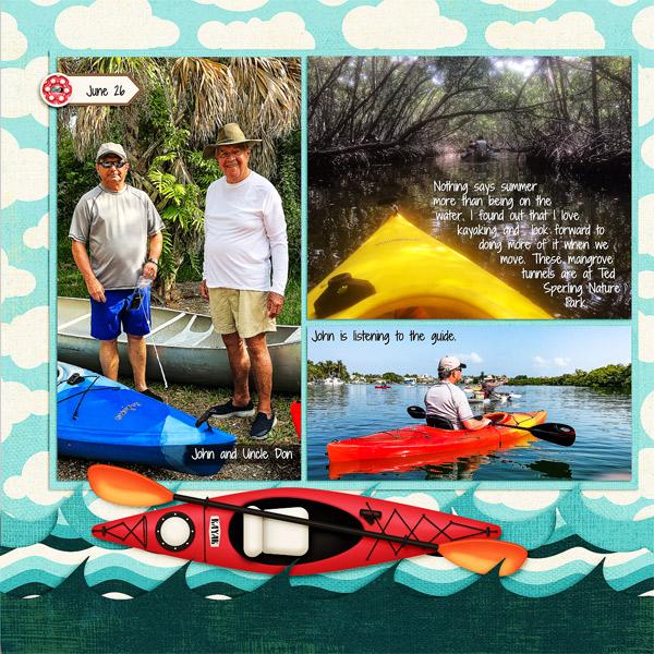 Kayaking, left side