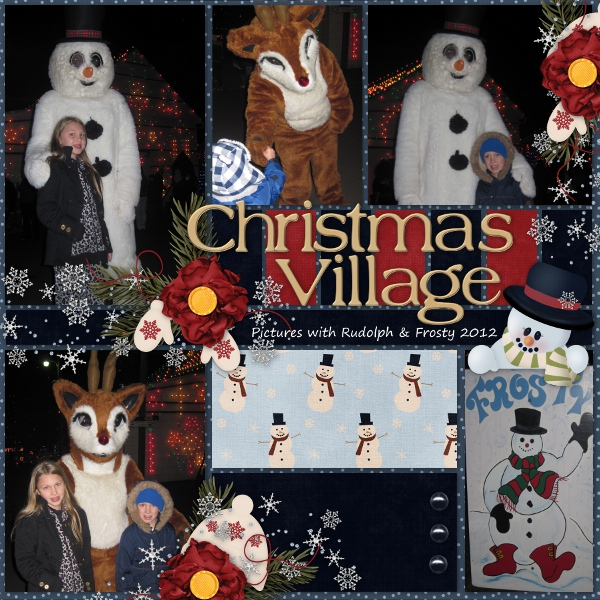 Christmas Village Pictures with Rudolph & Frosty